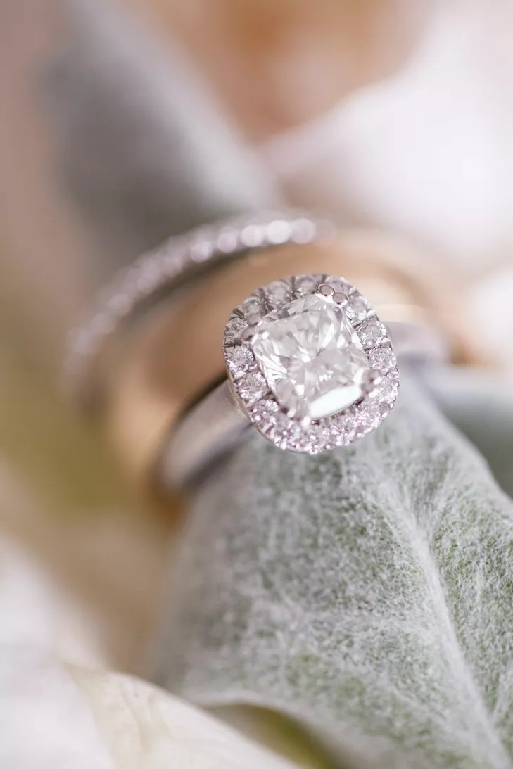 Elongated Cushion Cut Diamond Engagement Ring