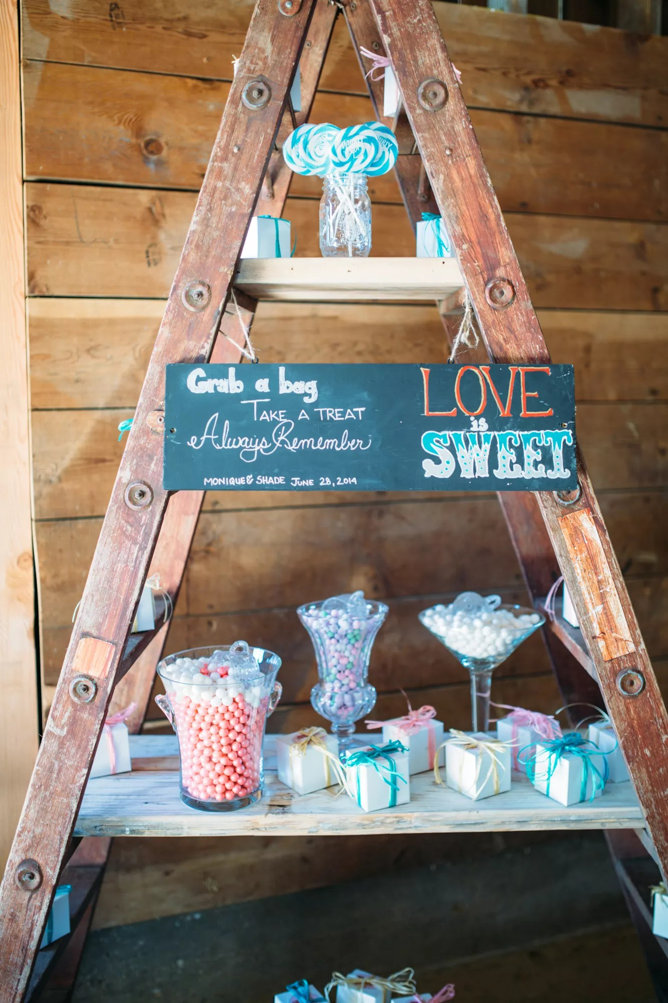 Wooden Ladder Candy Bar Display