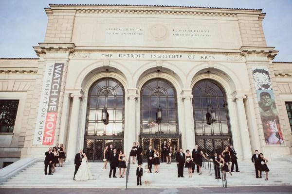 Wedding Party Detroit Institute Of Arts