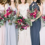 Romantic Burgundy Wildflower And Tulip Bouquets
