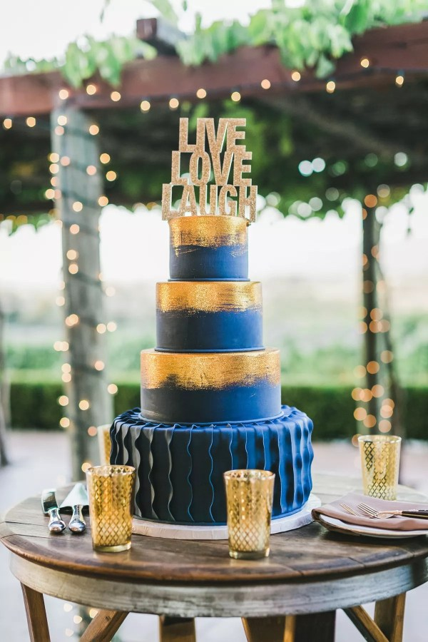 20 Brown Blue Gold Cake Pictures And Ideas On Meta Networks