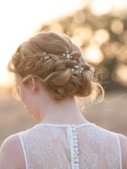 braided updo ideas with flowers