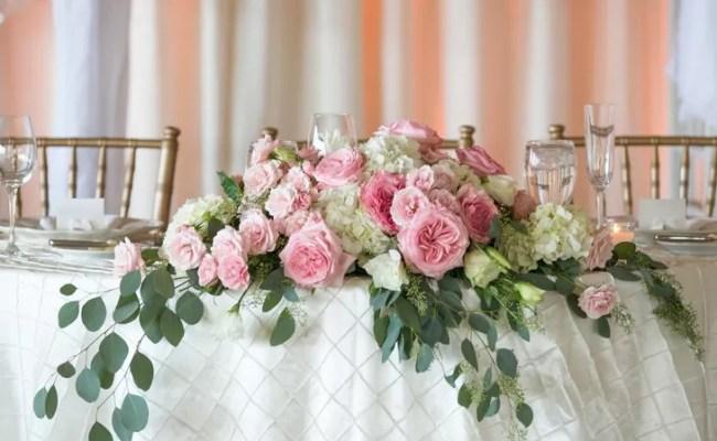 Cascading Sweetheart Table Centerpiece