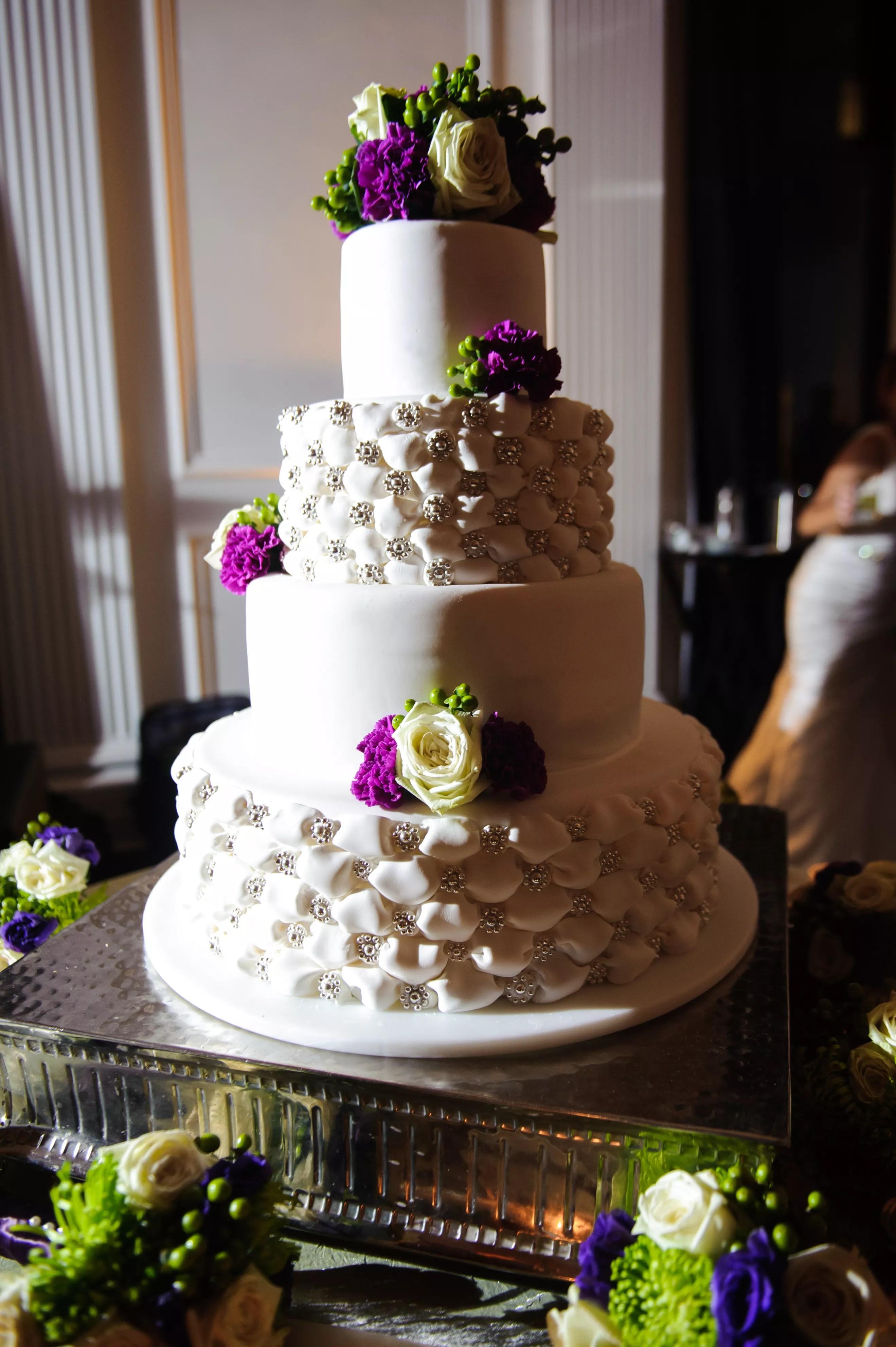 Ivory FourTier Wedding Cake