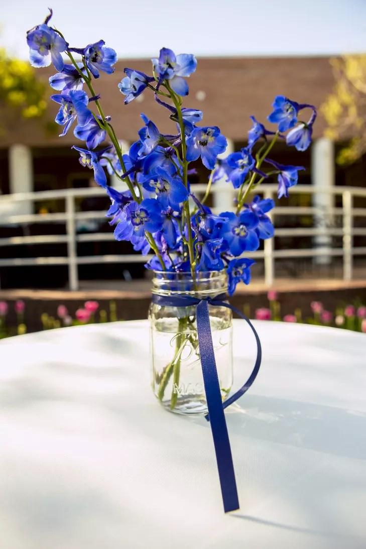 Blue Delphinium Centerpieces