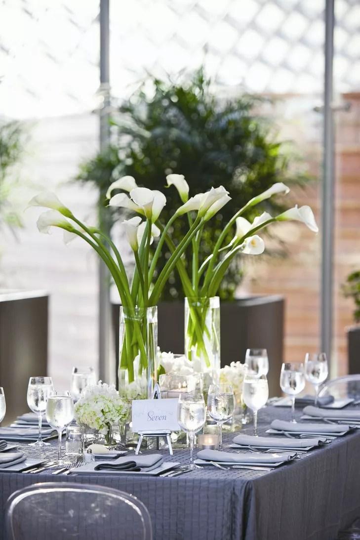 Calla Lily and Hydrangea Centerpiece