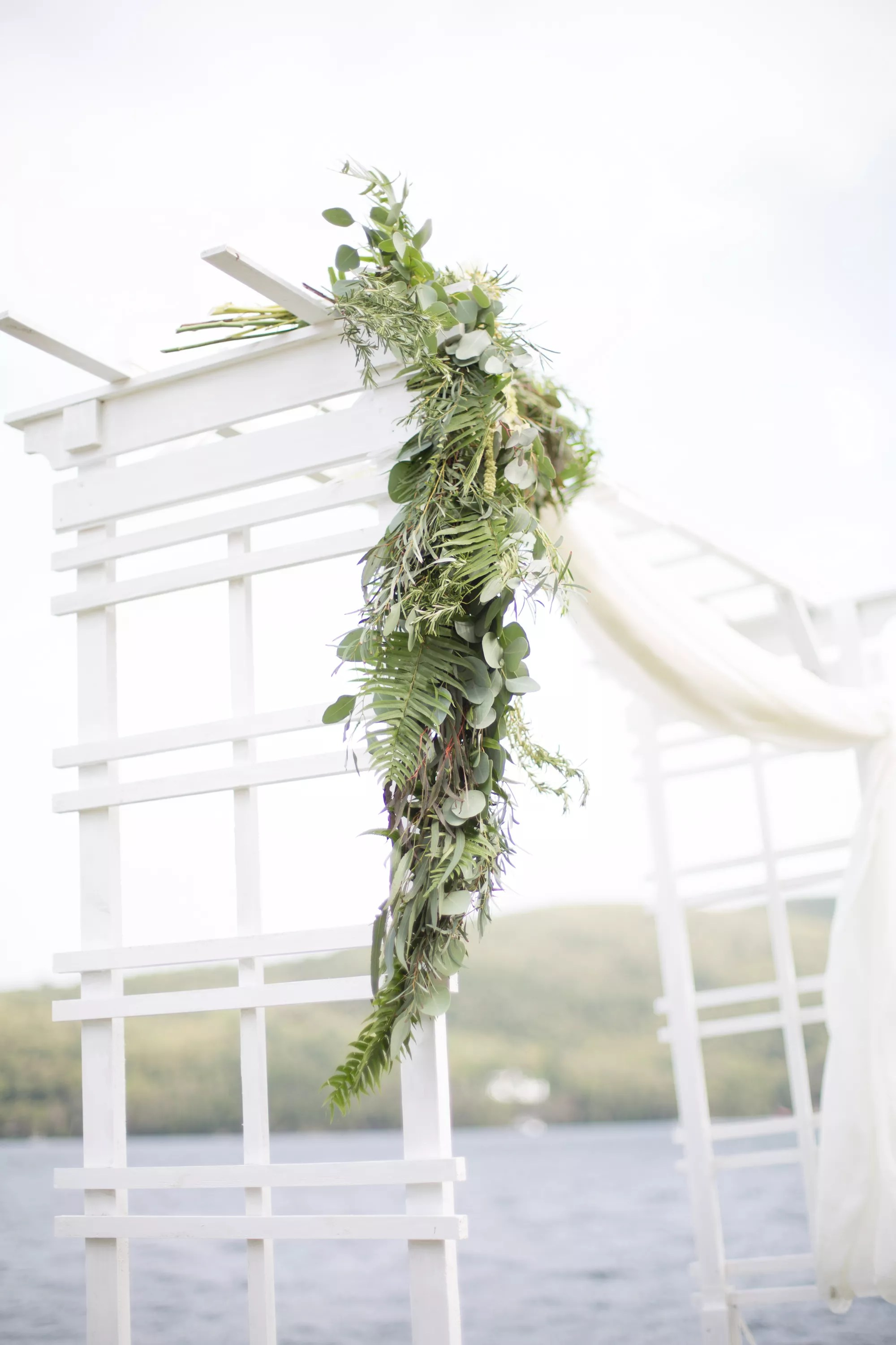 Fern And Eucalyptus Wedding Arch Garland