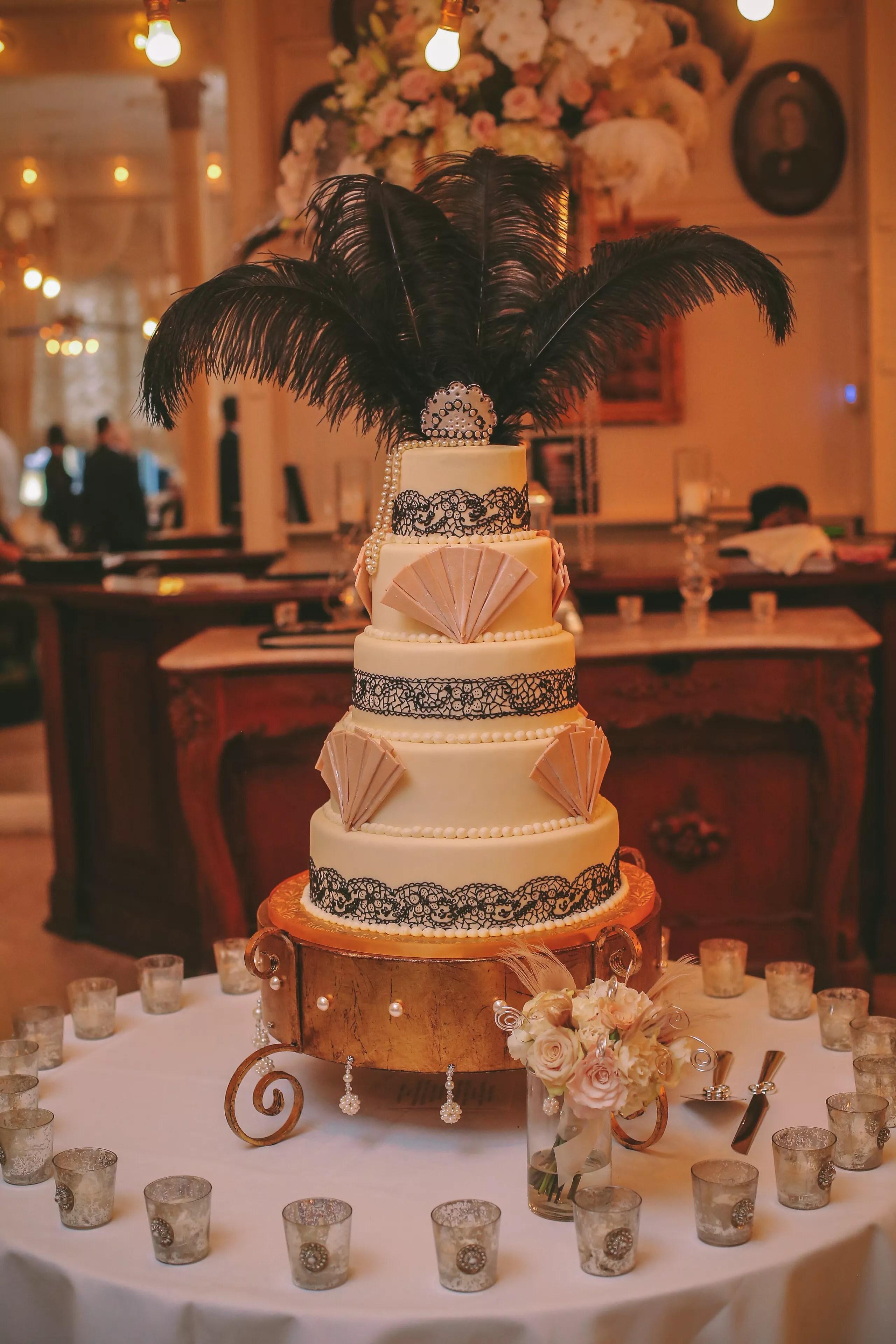 Jazz AgeInspired FiveTiered Wedding Cake