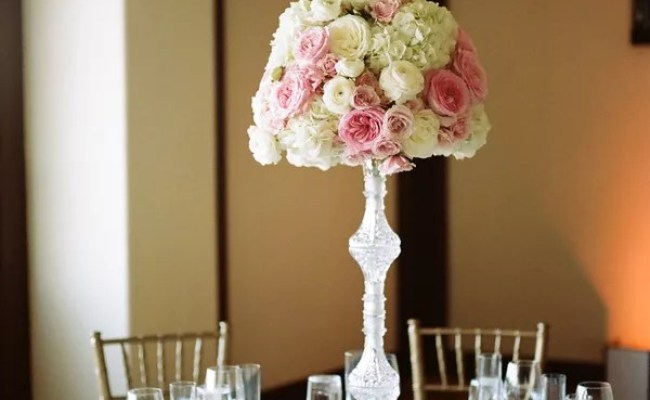 Cascading Sweetheart Table Centerpiece