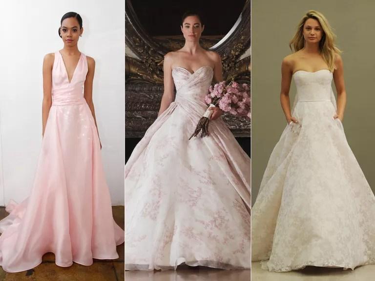 Colorful Wedding Dresses From Bridal Fashion Week