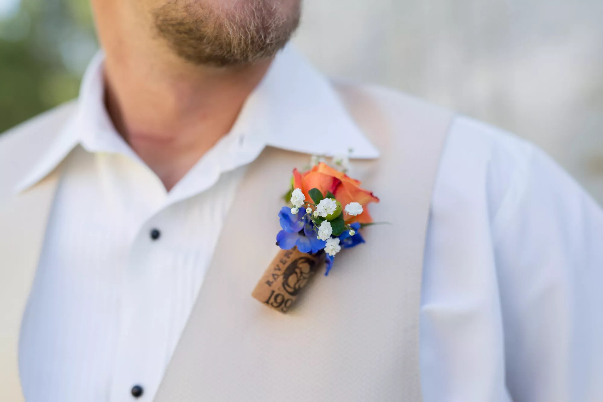 DIY Wine Cork Boutonniere