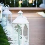 White Lantern Aisle Decorations