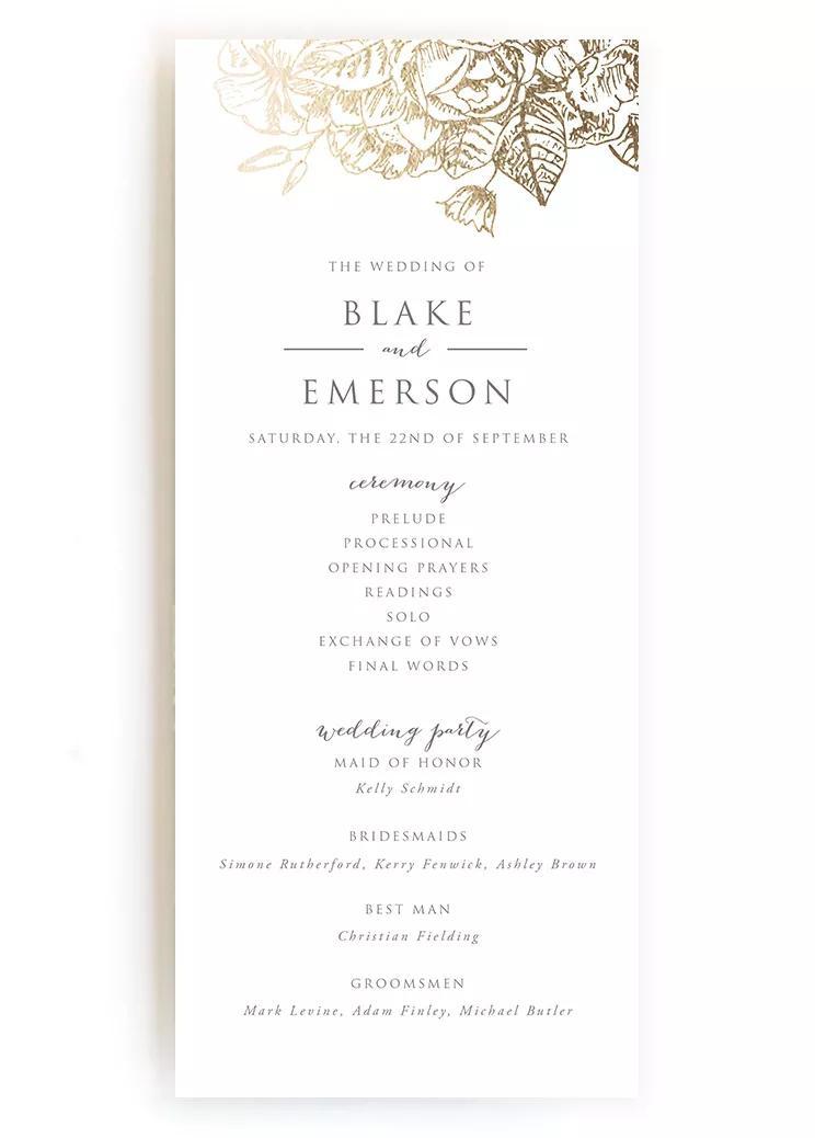 wedding programs wedding program