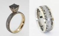 Wedding Rings Made Of Dinosaur Bone, Meteorite And Deer Antler
