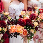 Burgundy Wedding Flower Arrangements