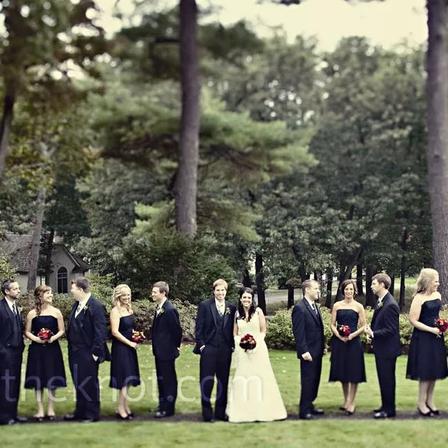 AllBlack Wedding Party