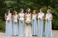 Dusty Blue Floor-Length Bridesmaid Dresses