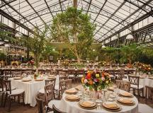 A Glass-Enclosed Botanic Garden Wedding? Right Here