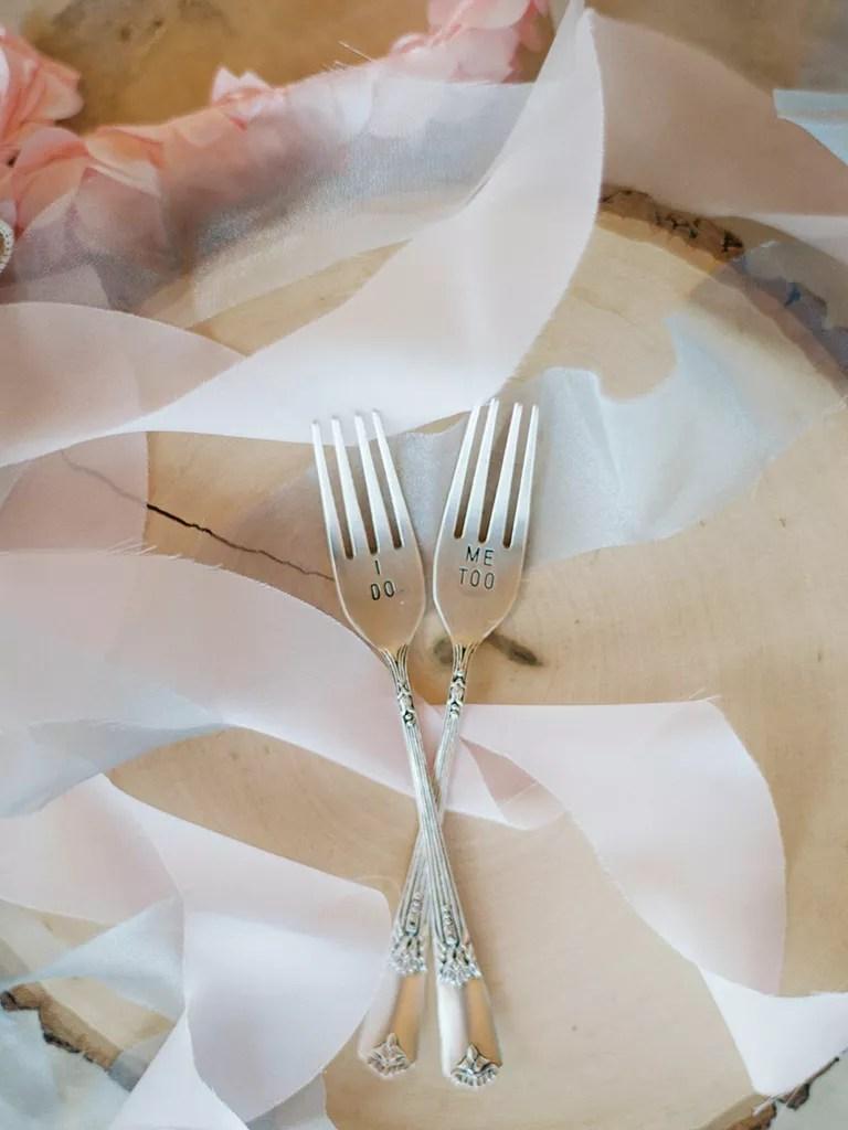 """""""I do"""" forks"""