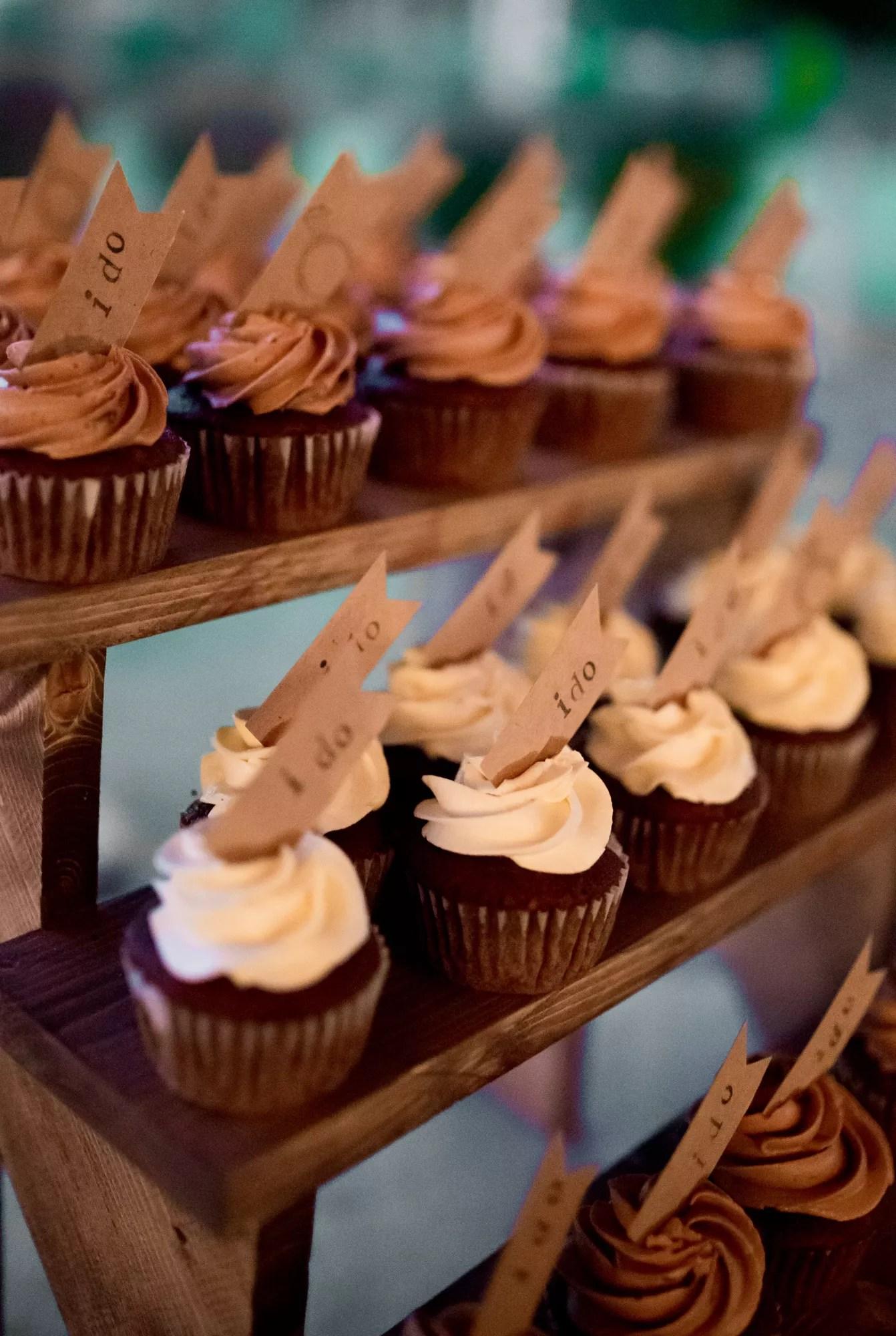 Rustic Cupcake Dessert Table Display