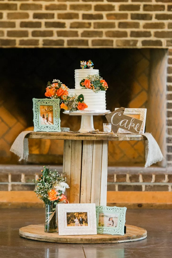 Electrical Wire Spool Cake Table