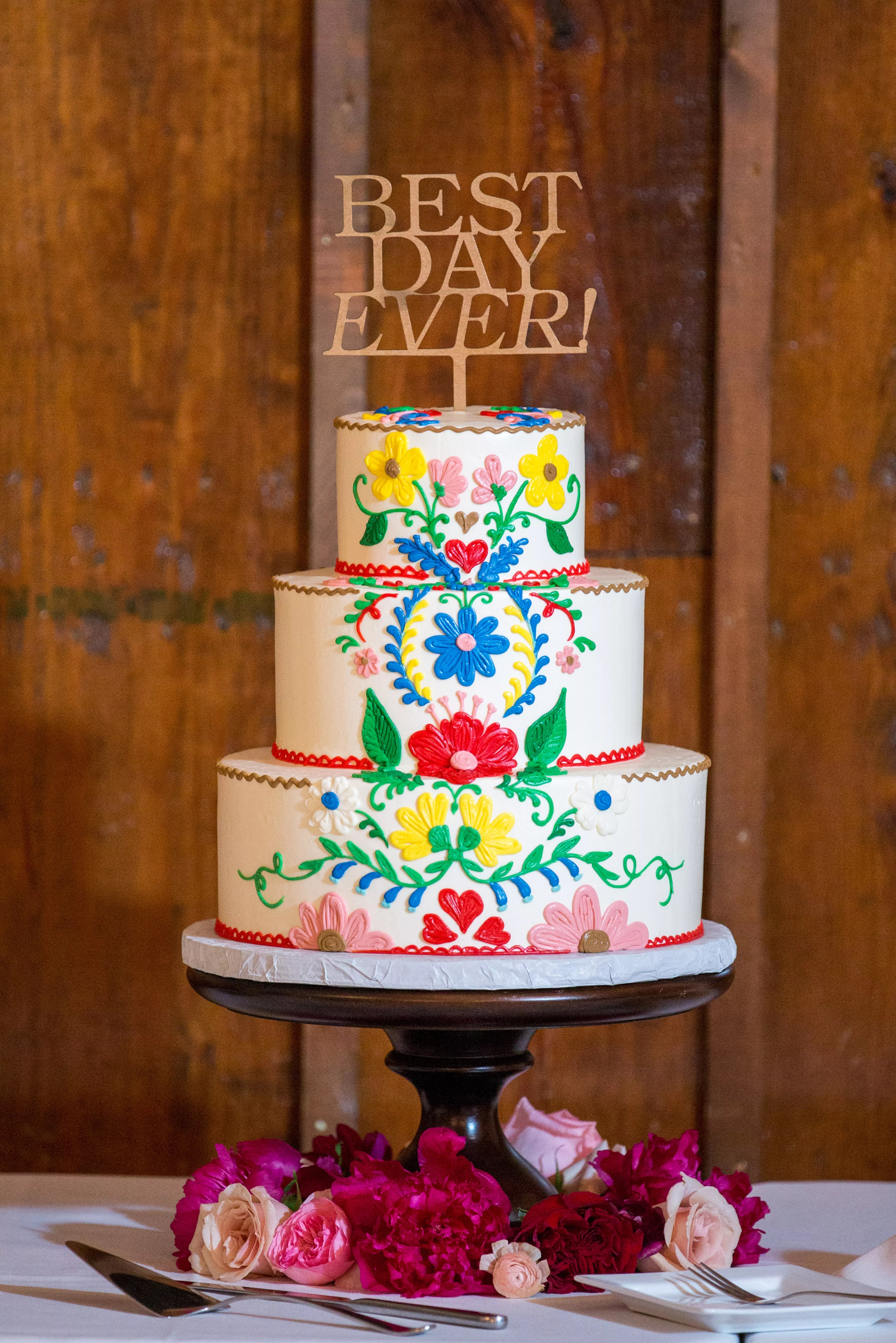 Traditional Mexican Colorful Wedding Cake Design