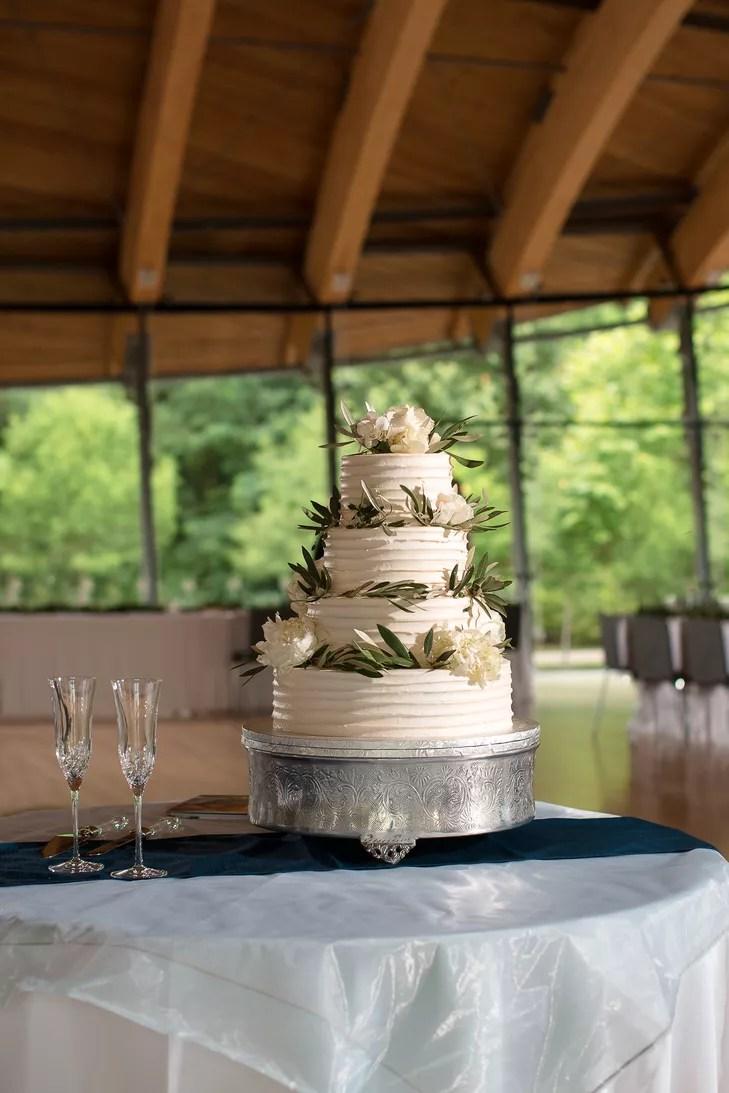 OliveLeafDecorated Buttercream Wedding Cake