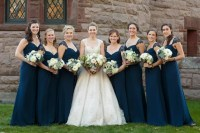 Navy A-Line Jim Hjelm Bridesmaid Gowns