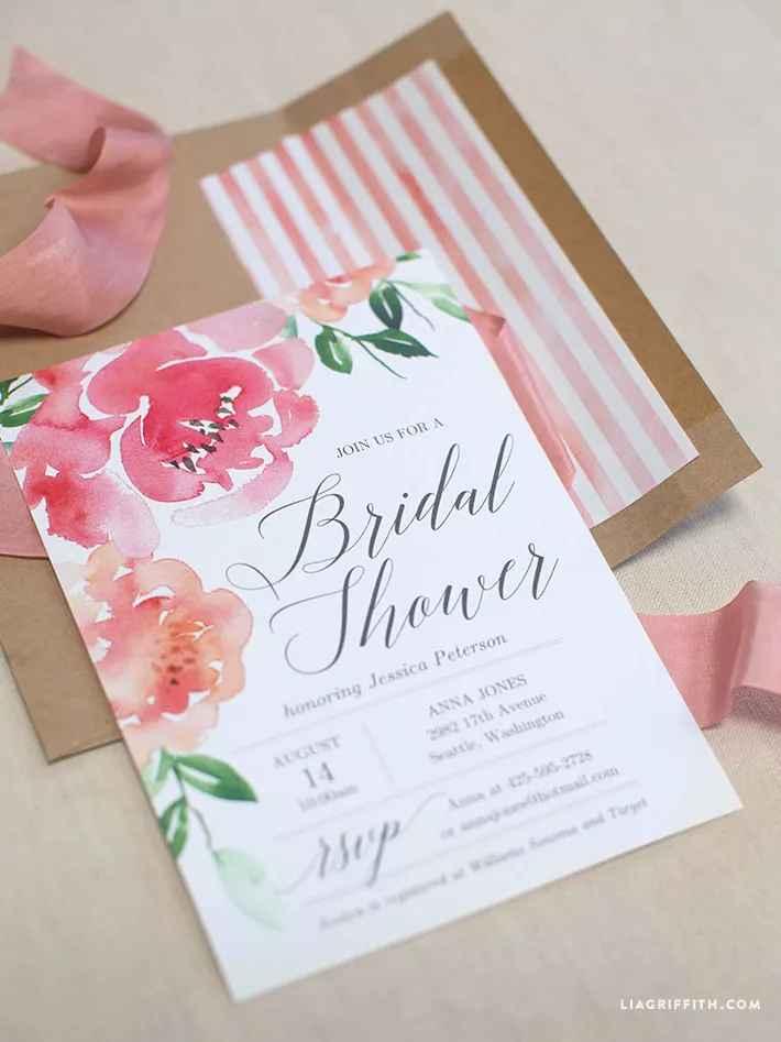 Printable Bridal Shower Invitations