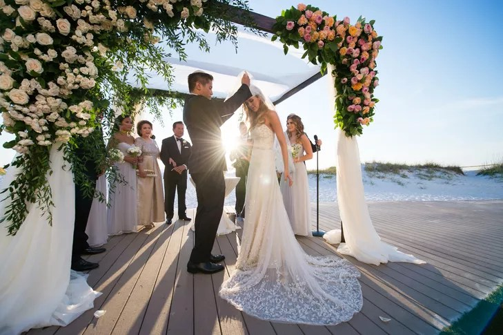 A Glamorous Jewish Beach Wedding At Sandpearl Resort In