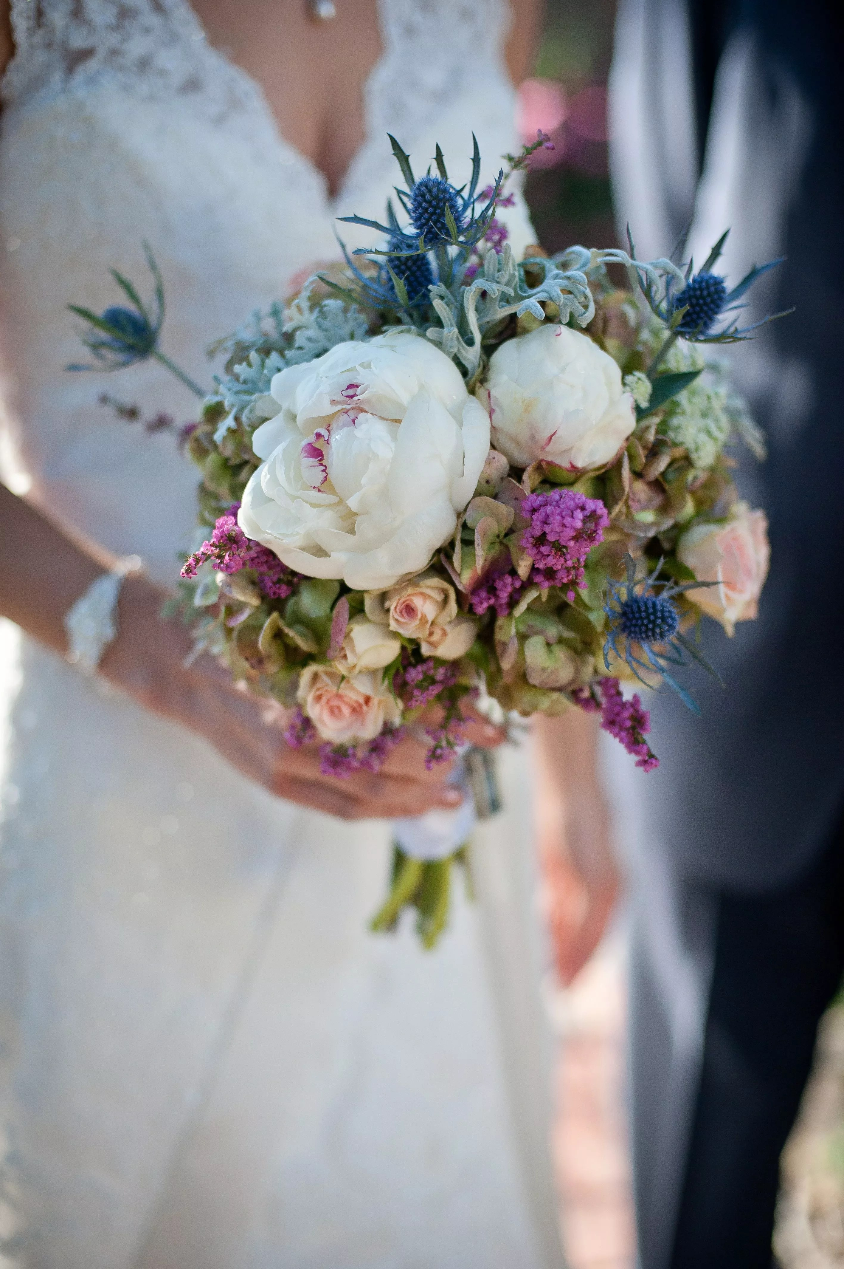 Sea Holly Bridal Bouquet