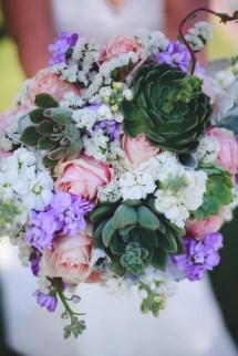 Blush Lavender And Succulent Bridal Bouquet