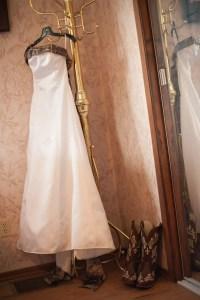 Camo Accent Wedding Dress