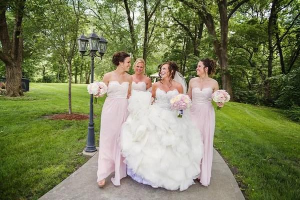Ruffled Organza Lazaro Ball Gown Wedding Dress