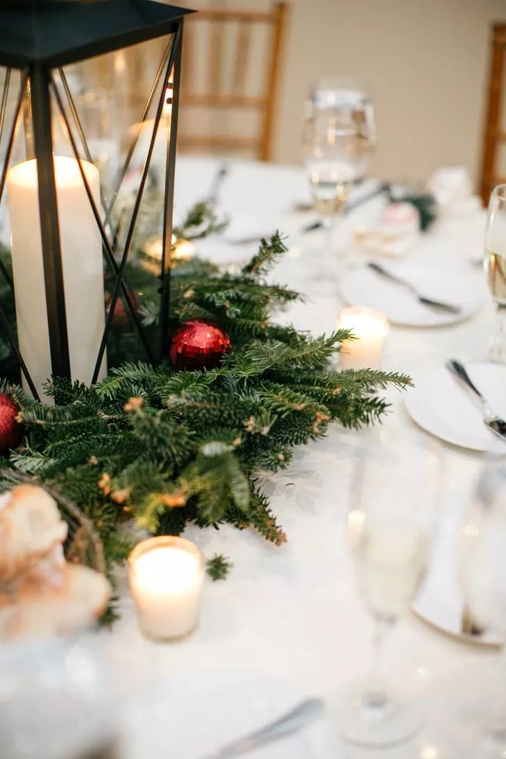 Lantern And Wreath Centerpieces