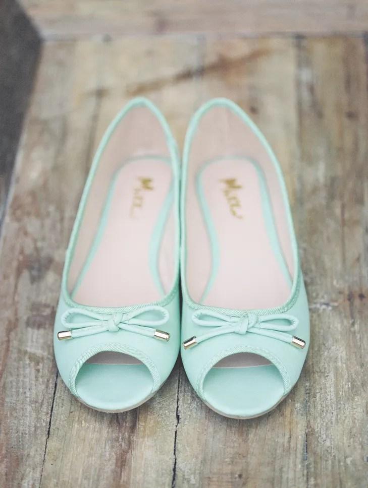 Pale Aqua Ballet Flats