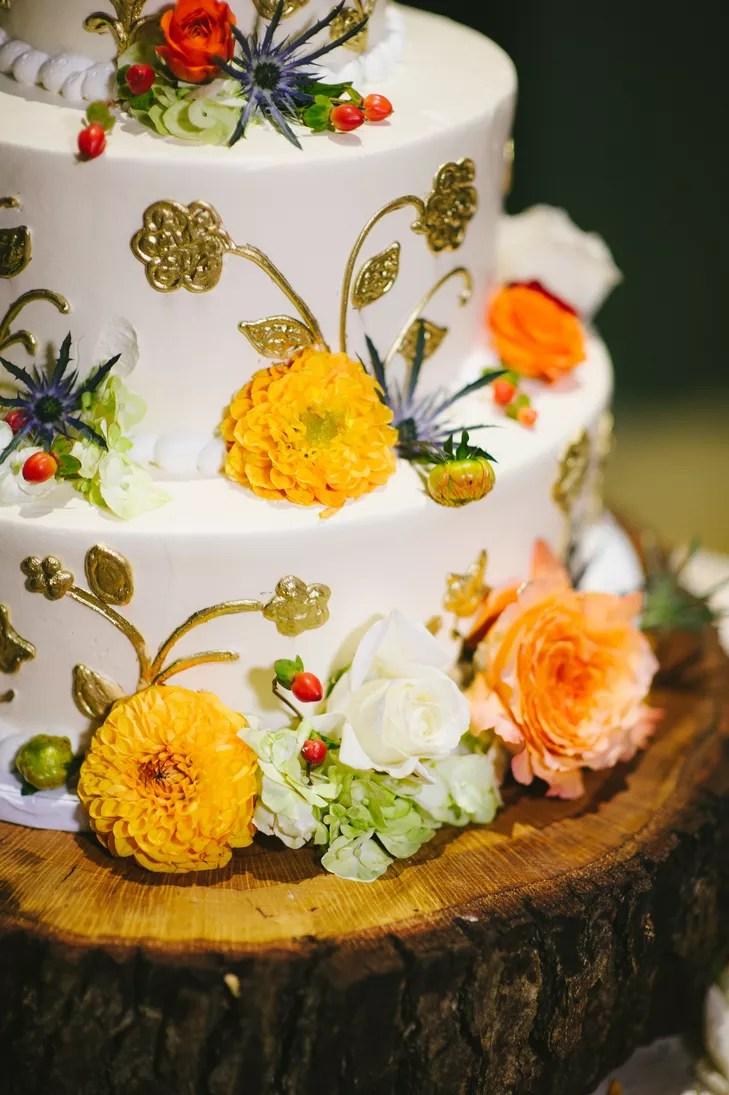 EarthTone FallInspired Wedding Cake