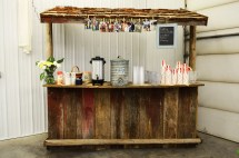 DIY Rustic Wooden Bar