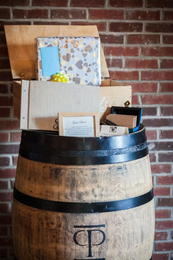 Wine Barrel Guestbook Display