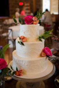 Three-Tier Pink Champagne Wedding Cake