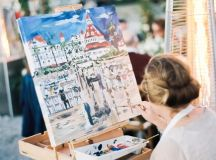 Custom Painting at Beachside Reception
