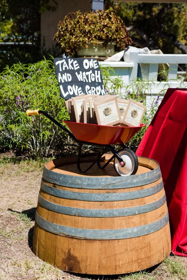 Sunflower Seeds Wedding Favors Idea