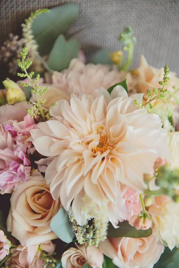 Blush Rose and Dahlia Bridal Bouquet