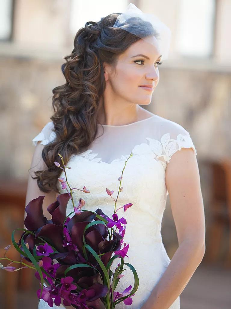 Veil Bridal Hair Hairstyles Long