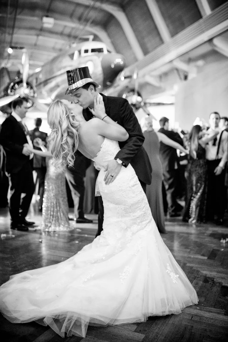Couple Dancing on Their New Year's Eve Wedding