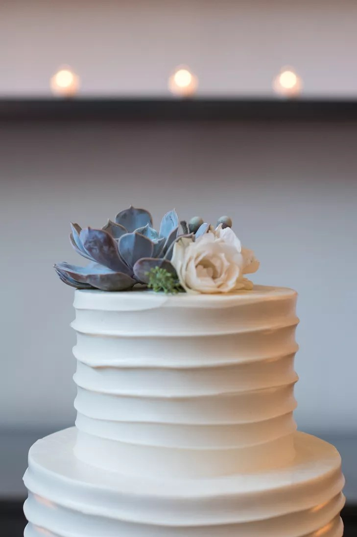 Succulent Wedding Cake Topper