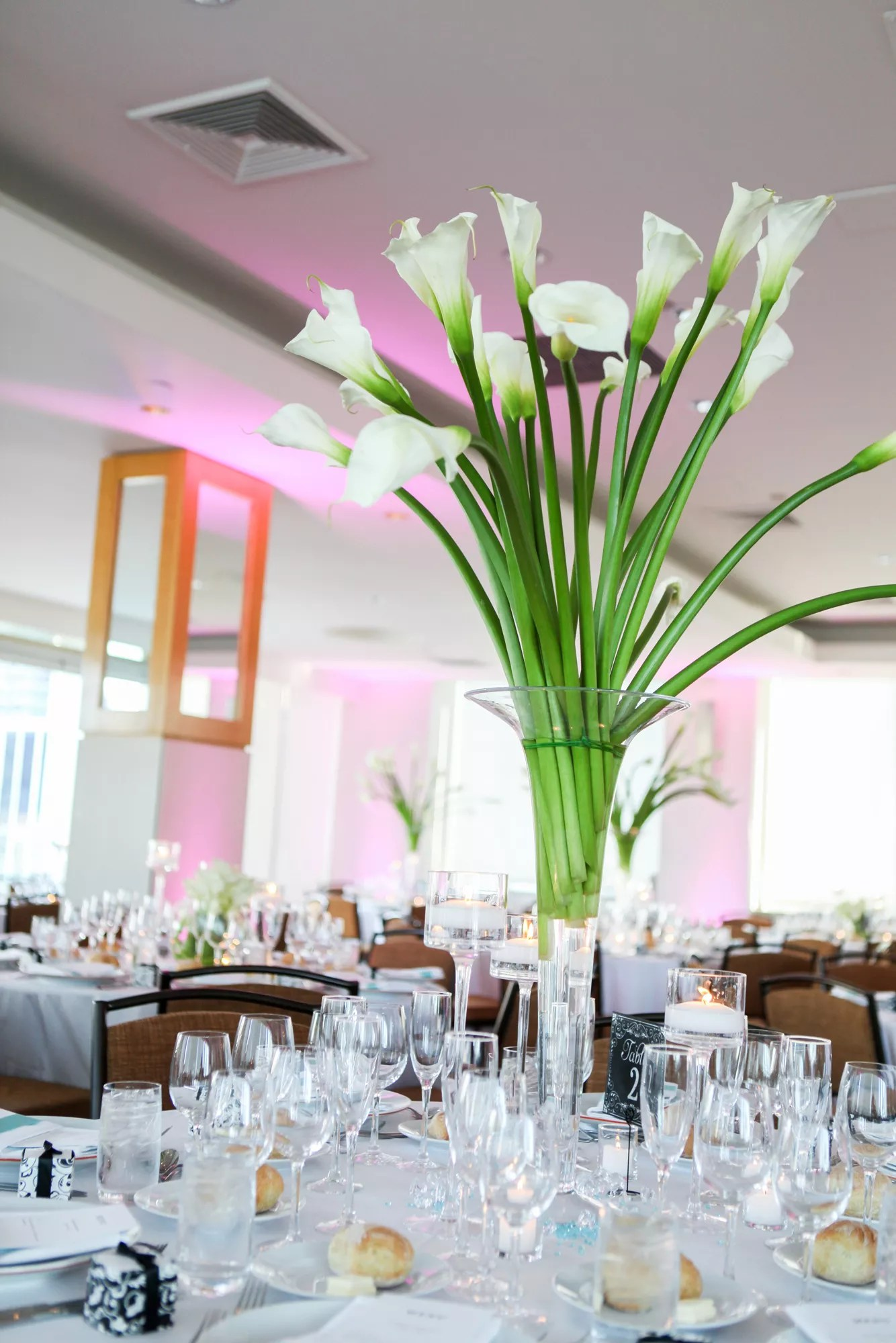 Modern Tall Calla Lily Centerpieces