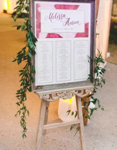Rustic vintage seating chart with watercolor detail also wedding charts rh theknot
