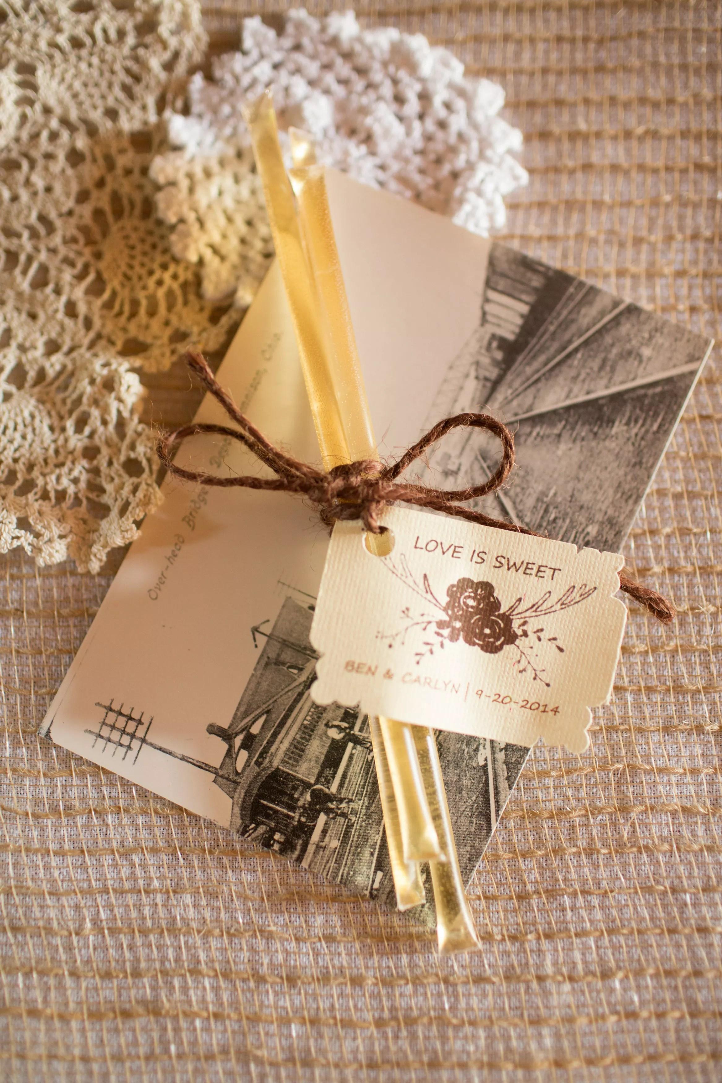 Honey Stick Wedding Favors