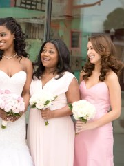 pretty bridesmaid hairstyle